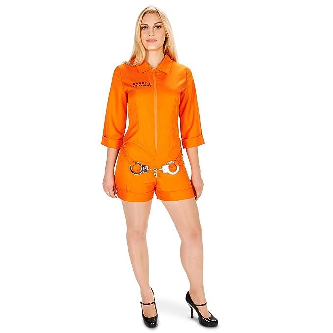 Amazon.com: Naranja Prisionero Jumpsuit para adulto: Clothing