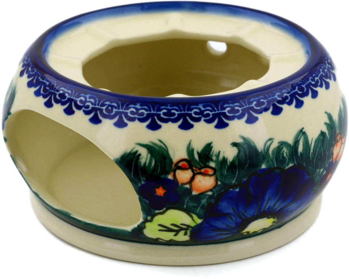 Polish Pottery 5½-inch Heater (Butterfly Splendor Theme) Signature UNIKAT + Certificate of Authenticity