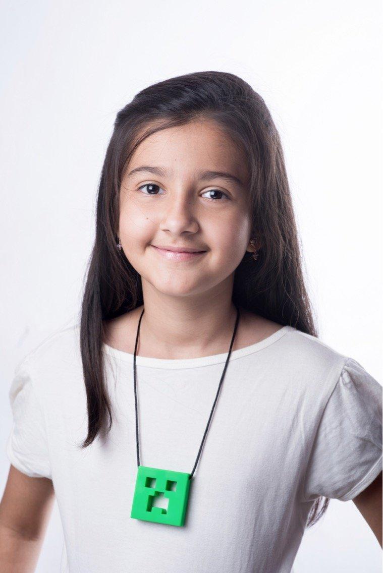 Autisme Chew Pendant n/éon vert Formation et d/éveloppement Fidget Toy Chew Collier pour la dentition B/éb/és sensoriels Anxi/ét/é Oral Moteur TDA