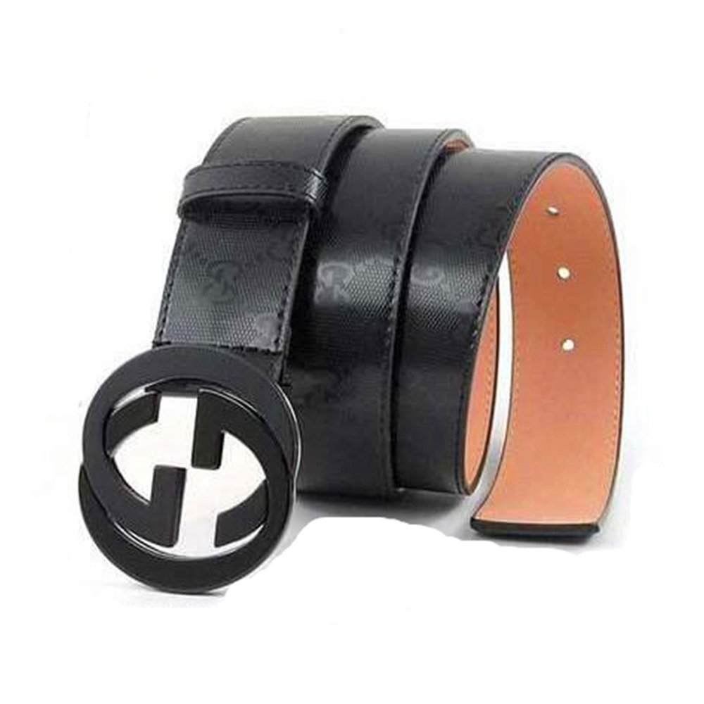 Man's Fashion GG Leather Alloy Buckle Belt
