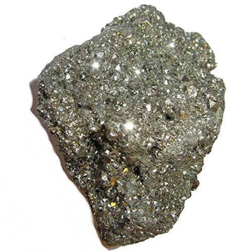 Pyrite Cluster 01 Sparkling Fool's Gold Nugget Crystal Evil Eye Negative Energy Protector Stone 3