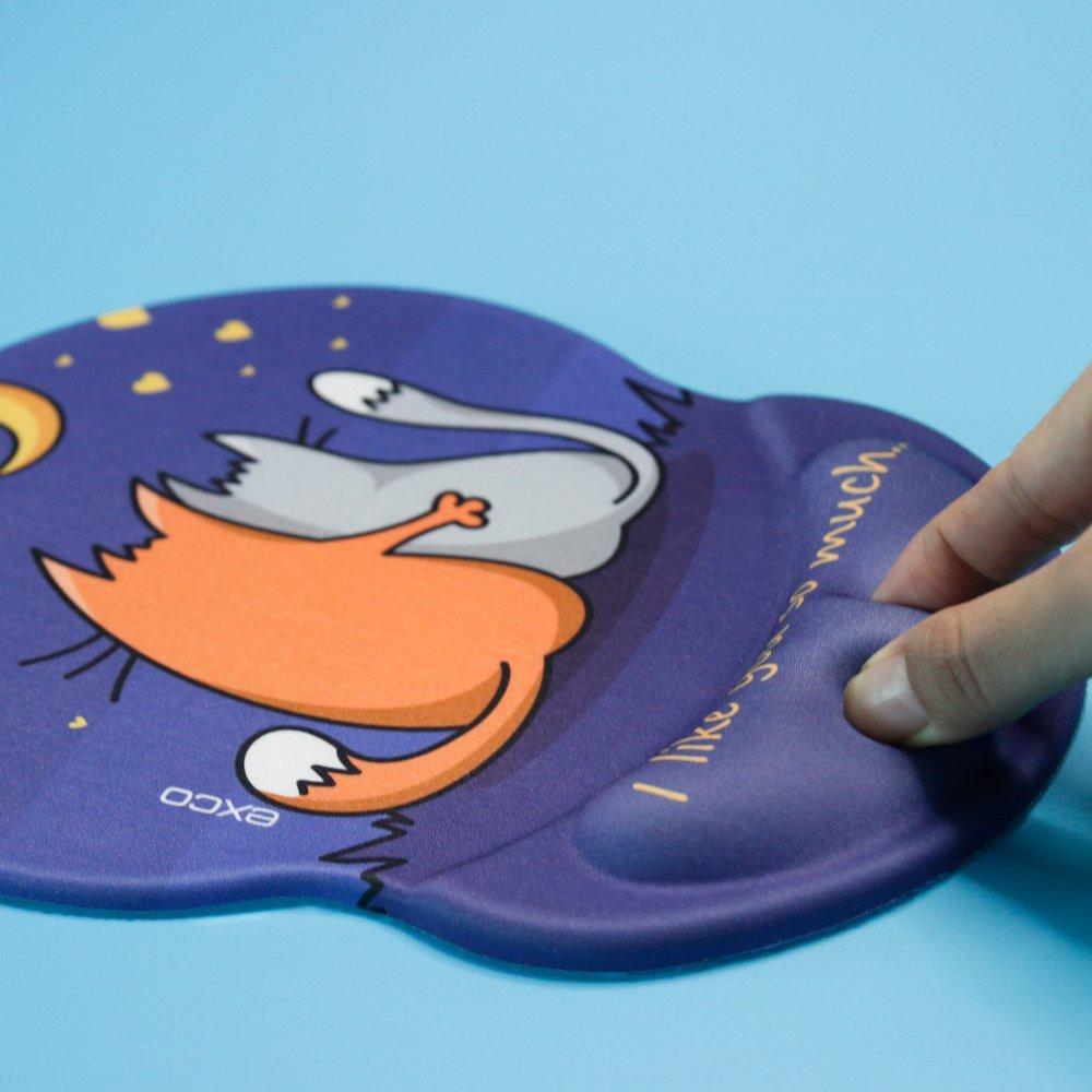 /Fit per computer e portatili Pink sakura pad. Exco ergonomico mouse pad nero con morbida in gel PU antiscivolo supporto per polso superficie liscia Poggiapolsi Pad/