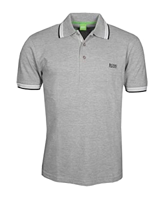 6b24b2d9c BOSS Men's Hugo Small Logo Paddy Pro Polo Shirt (XXL, Grey/Black ...