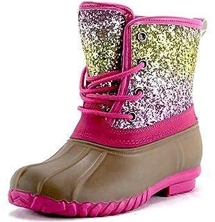 Girls Black Sequin Duck Boots | Boots