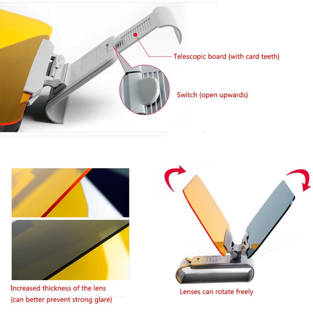 Filtro UV, protecci/ón para los Ojos, protecci/ón Solar, para d/ía y Noche Parasol 2 en 1 Surenhap