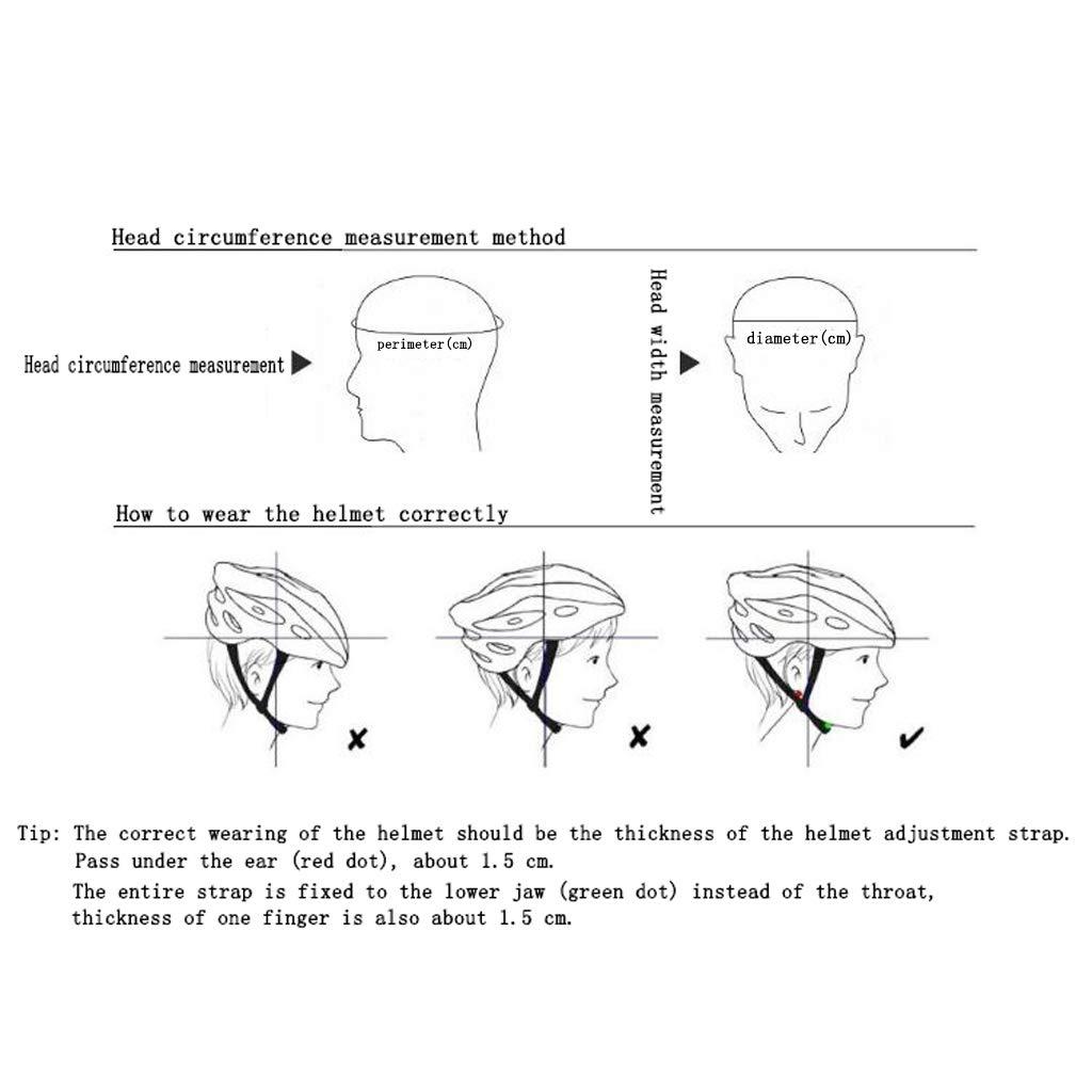 TYXHZL Einteiliges Insekten sicheres Fahrradhelm Sicherheits-Fahr Helm