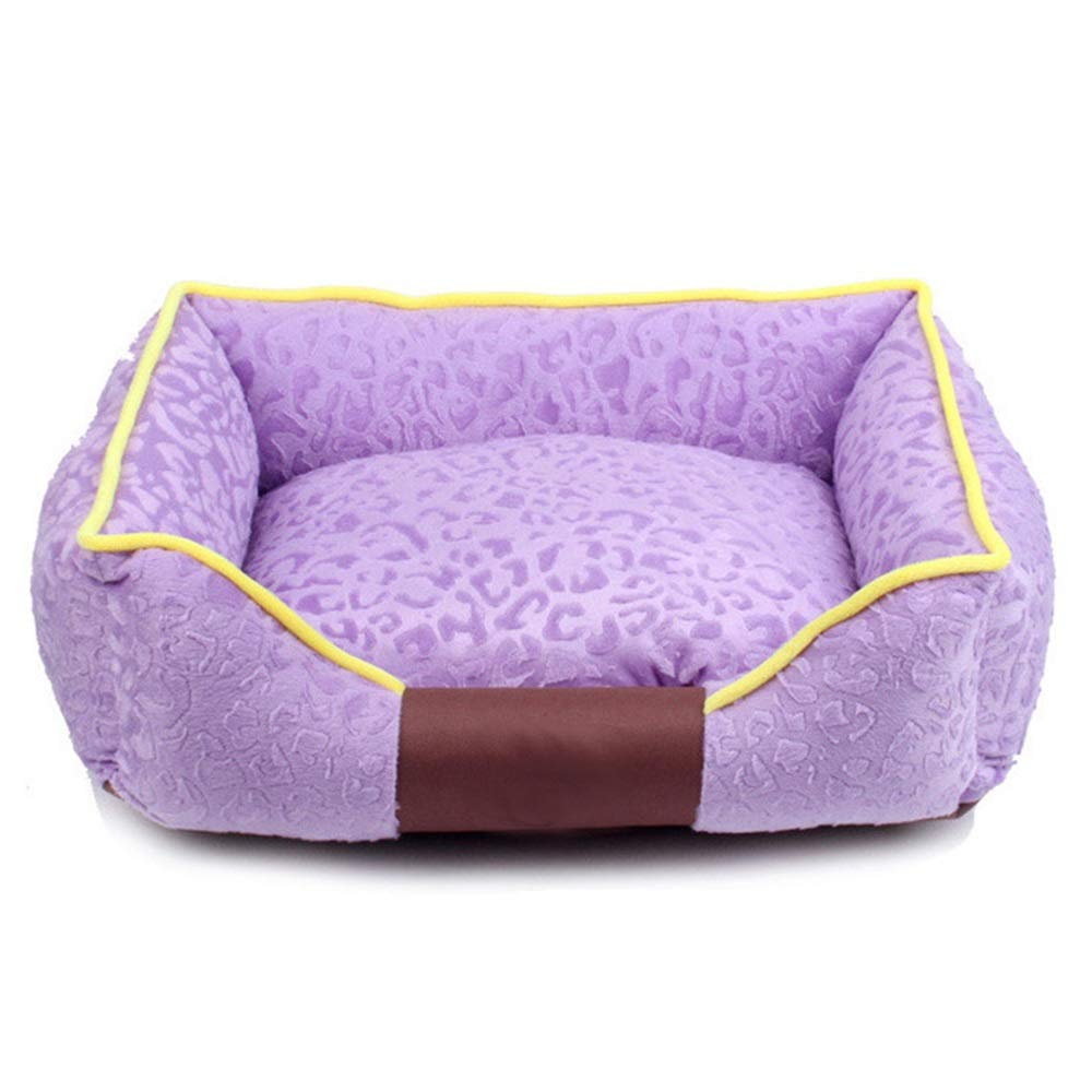 1002-L Pet Bed, Four Seasons Universal Kennel Removable and Washable Warm Dog Bed Cat Mat Pet Supplies Sofa Cushion (color   1002-L)