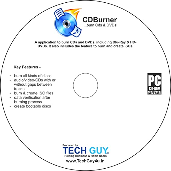 TechGuy4u CD DVD & Blue RAY Burning Software (NERO Alternative) - TechGuy4u