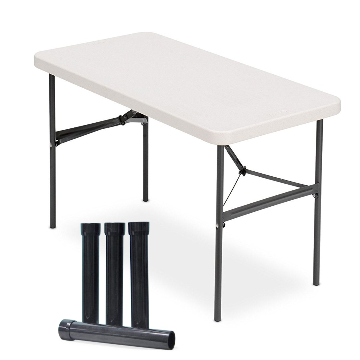 Lift Your Table®™ folding table risers extenders STRAIGHT LEG KIT. Save Your Back!