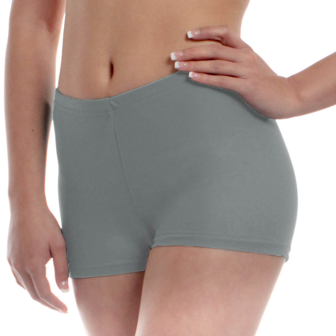 Mens Long Dance Shorts Medium Gray by B Dancewear Adult Sizes by Bailar Dancewear