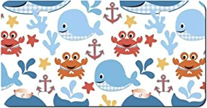DKISEE Abstract Sea Buddies Baby Whales License Plate Cover Aluminum Car Front License Plate