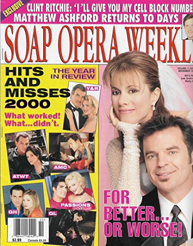 Soap Opera Weekly Magazine - December 19, 2000 - Nancy Lee Grahn & Wally Kurth (General Hospital) l 2000 Hits & Misses l Year In Review Issue