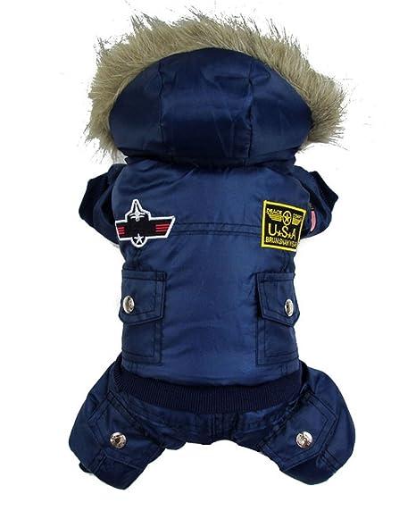 gollyking (TM) Abrigo de invierno abrigo de invierno perro ropa diseño de aviador mascota