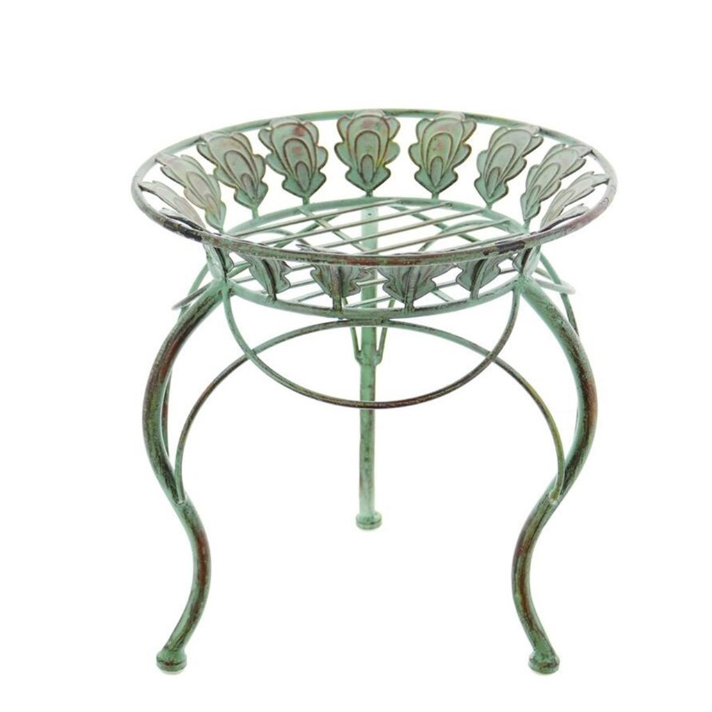 CSQ Vintage Plant Stand/Flower Stand, Round Hollow Pattern Succulent Plants Living Room Bedroom Balcony 333333CM