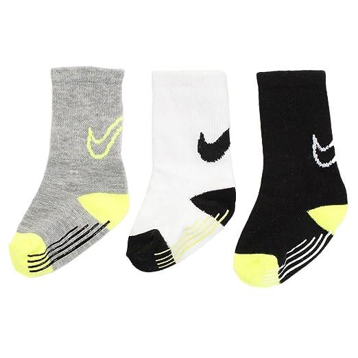Amazon.com: Nike Toddler 3 Pack Crew Gripper Socks (Volt ...