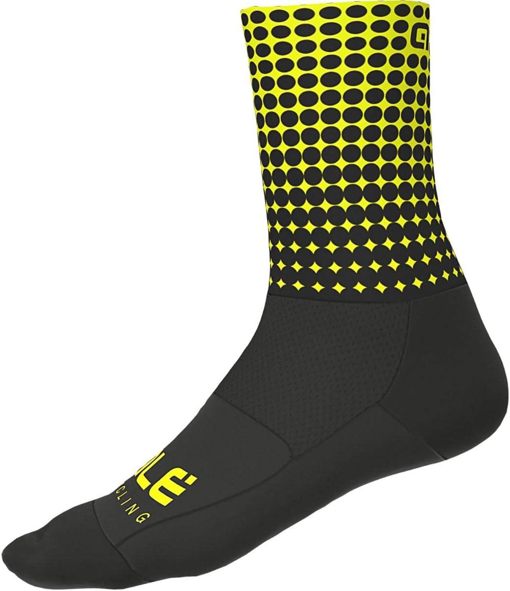 color negro y amarillo 16 cm Calcetines para ciclismo Al/é Cycling Dots 2020