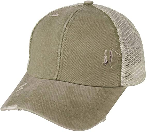 Summer Baseball Cap Dad Trucker Mesh Hat Ponytail Criss Cross Messy Buns Ponycap