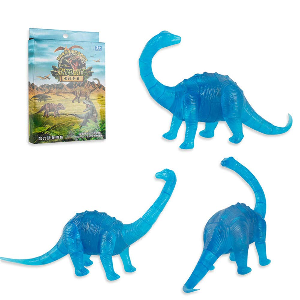 callm 3D Puzzle Toy,3D Puzzle Dinosaur Model DIY Gadget Blocks Building Toy Gift Developing The Thinking Skill and Logic Sense of Children (Blue)