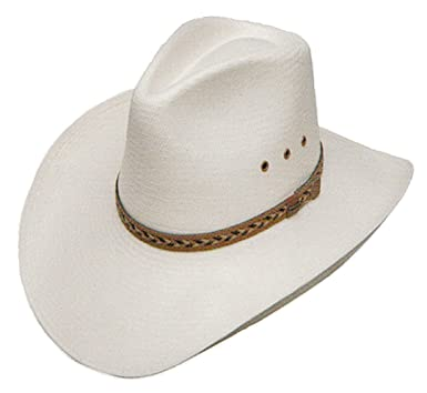 ca4363795d25b Stetson Baytown Straw Cowboy Hat at Amazon Women s Clothing store