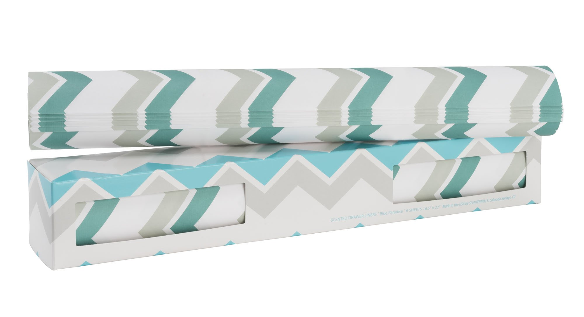 Scentennials Blue Paradise (6 Sheets) Scented Fragrant Shelf & Drawer Liners 16.5'' x 22'' - Great for Dresser, Kitchen, Bathroom, Vanity & Linen Closet by Scentennials