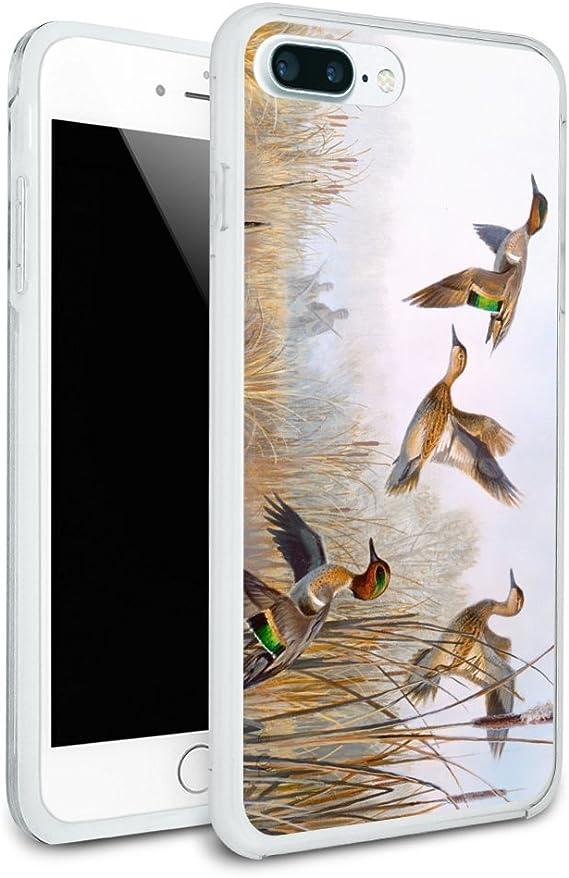 Green-Winged Teal Ducks Taking Flight Hunters Hunting Black Leather Keychain