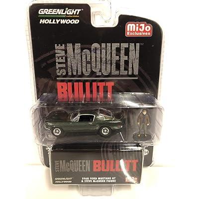 Greenlight Hollywood Bullitt 1968 Ford Mustang GT with Steve McQueen Figure 1/64 Diecast Model Car 51207: Toys & Games