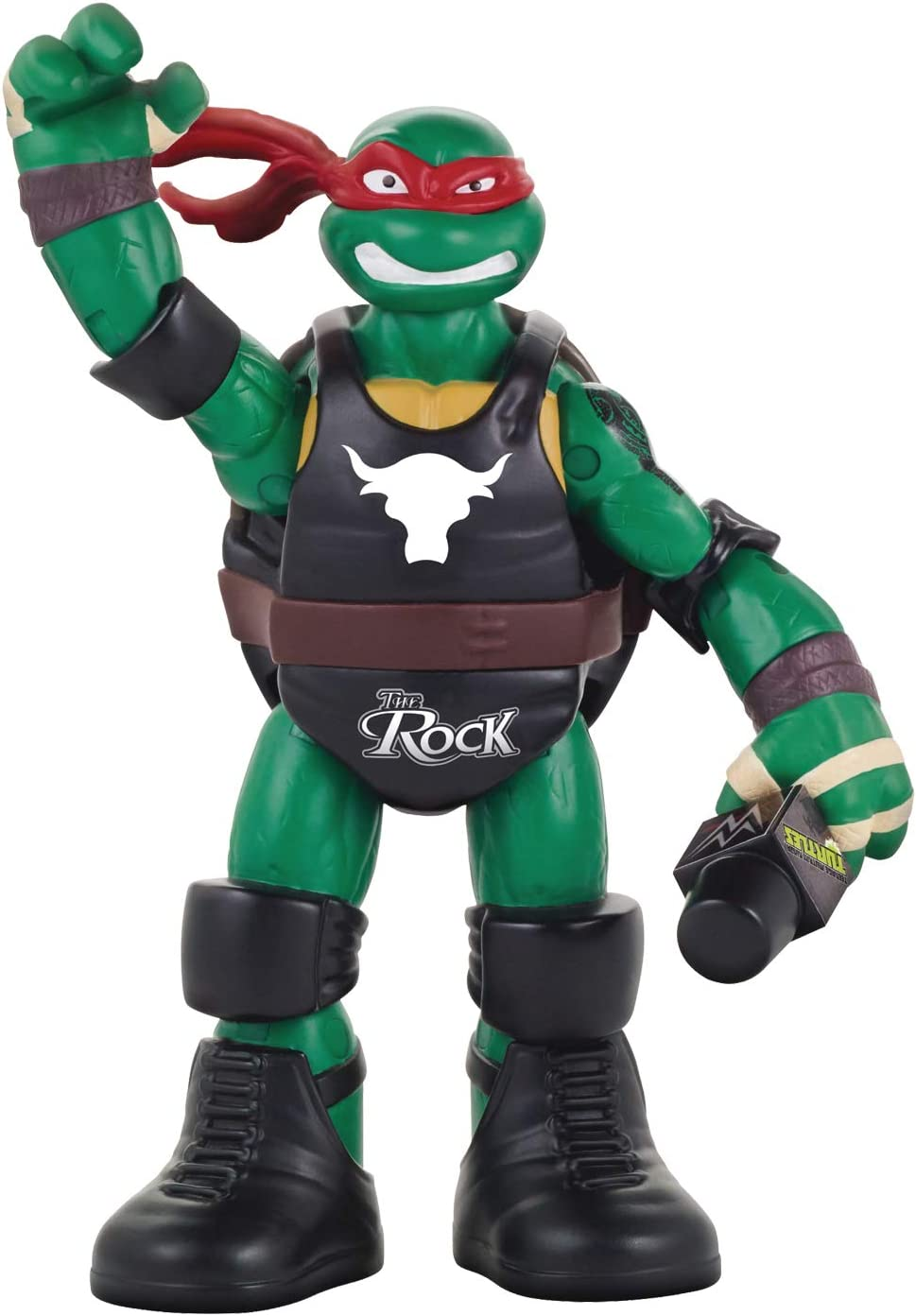 Teenage Mutant Ninja Turtles Ninja Super Stars: Raph as The Rock Figure