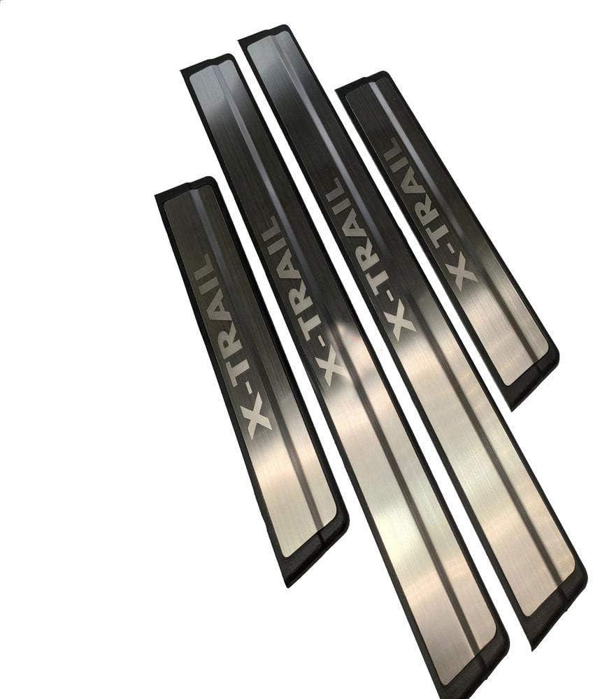 HJHNB 4 St/ücke Auto Einstiegsleisten F/ür Nissan Rogue X-Trail T32 2015-2019 Edelstahl Trittplatten Pedal Scuff Styling Aufkleber Schwelle Abdeckung Schutzleiste