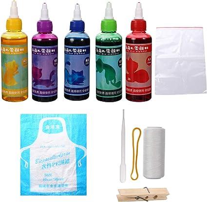 HEALLILY Camiseta Tie Dye Kit Tinte de Tela para Mujeres ...