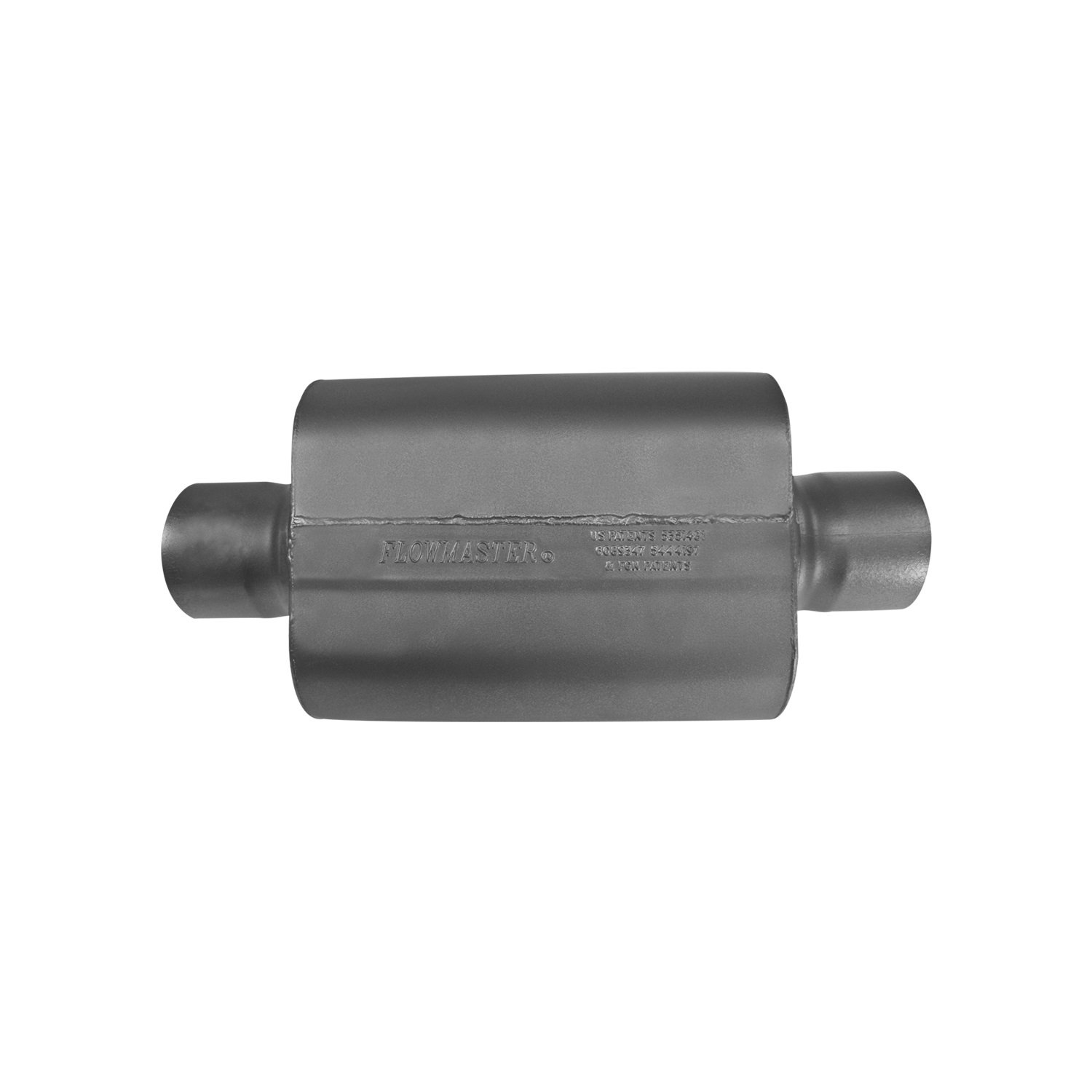 Flowmaster 854040-10 Super 40 Series Delta Force 4.00 Center In and Out 16 Gauge 409S Stainless Steel Exhaust System