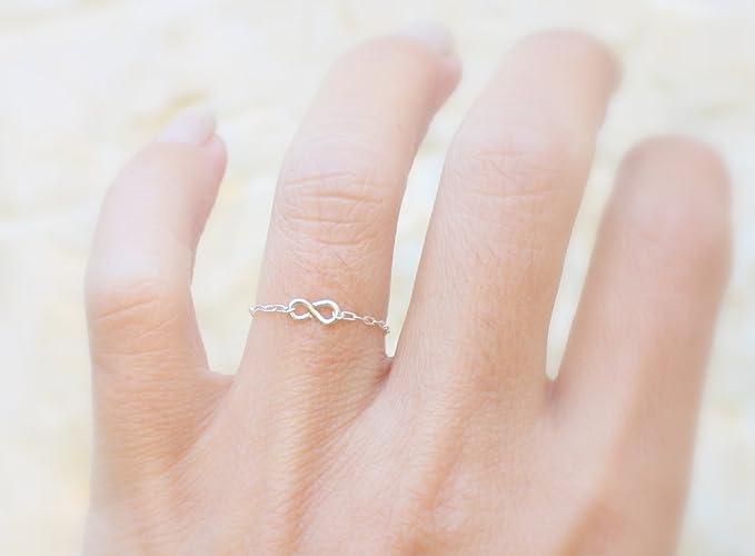 Amazon 925 Sterling Silver Ring Infinity Symbol Tarnish