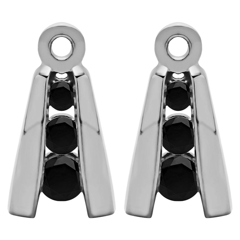 Amazon 1 5 ct Black Diamonds Three Stone Earring Jackets in