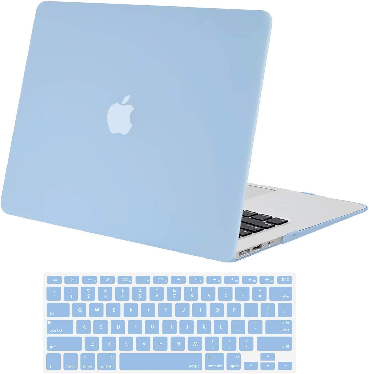 MOSISO MacBook Air 13 inch Case (Models: A1369 & A1466, Older Version 2010-2017 Release), Plastic Hard Shell Case & Keyboard Cover Skin Only Compatible with MacBook Air 13 inch, Airy Blue