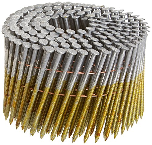 Hitachi 12707H 3-Inch x 0.120 Ring 2.4M Hot-Dipped Galvanized Round-Head Wire Coil Framing Nails, 2400-Pack