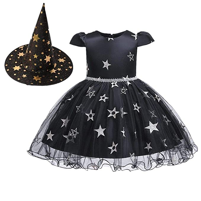 2PCS Child Kids Baby Girl Halloween Clothes Costume Cloak Party Dress+Hat Outfit