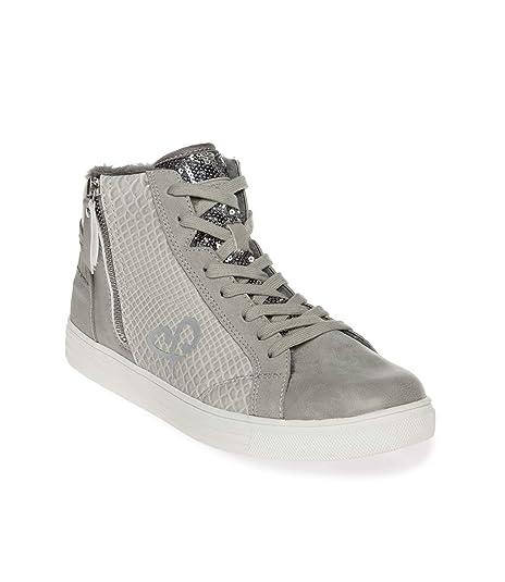 SOCCX High Top Sneaker im Materialmix mit Faux Fur