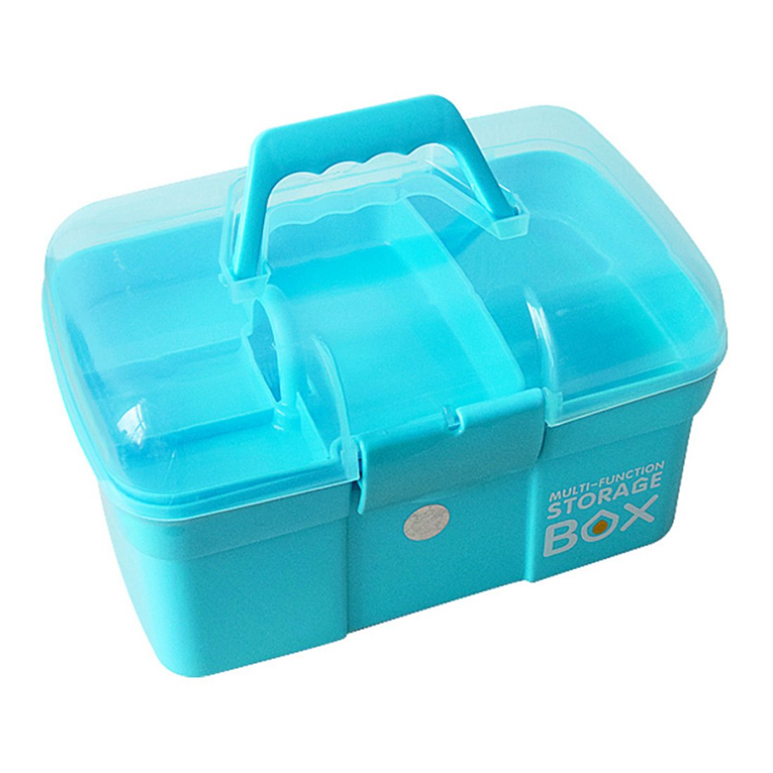 HMANE First Aid Box Multi- function Portable Handled Organizer Storage Box Family Emergency Kit Storage Case - (Blue)