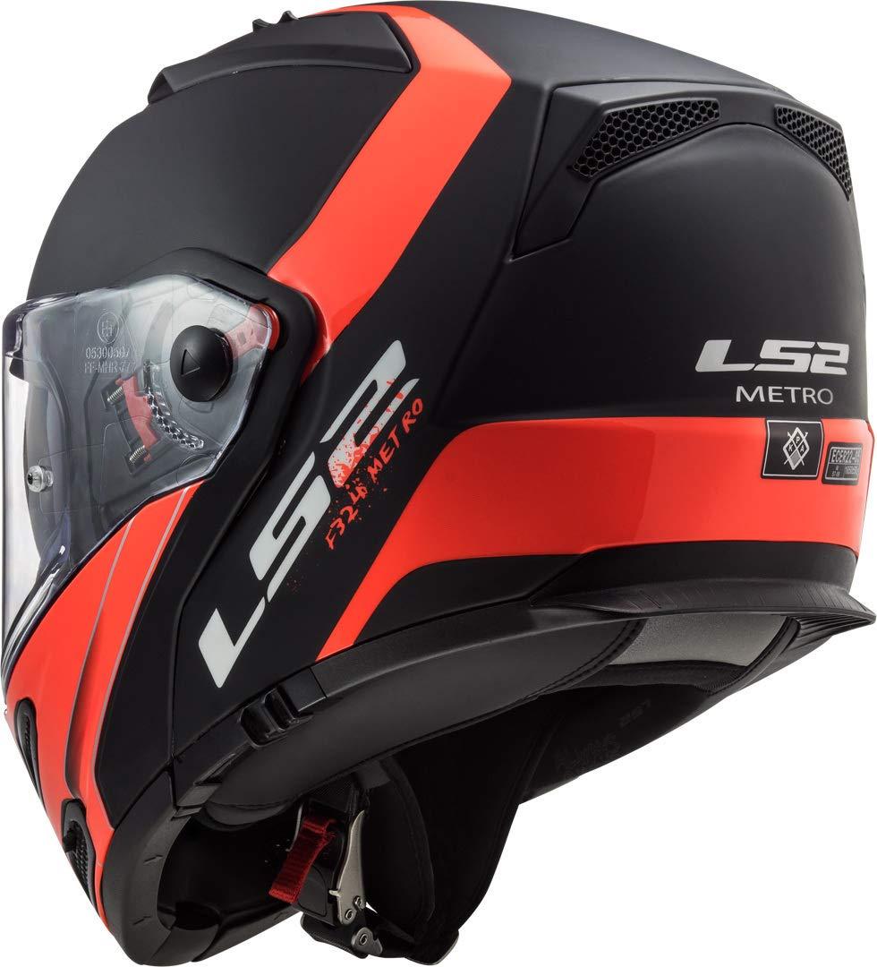 LS2 Motorcycle helmets FF324 METRO EVO RAPID MATT Black Goldange P//J