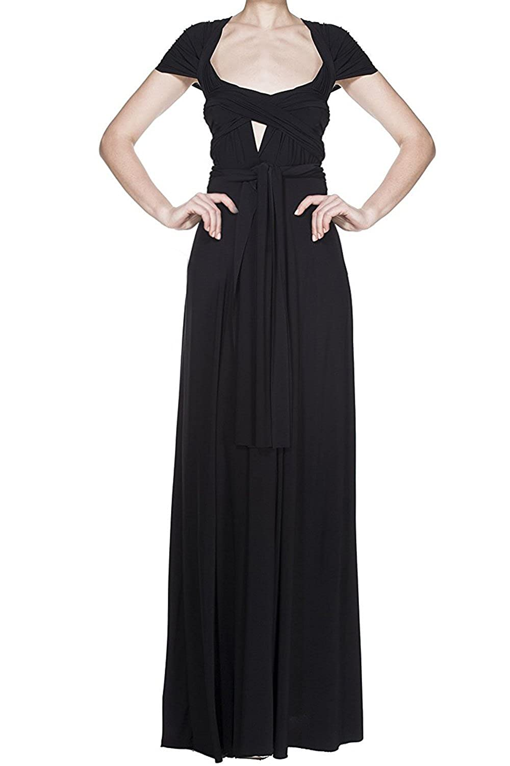 305a69c5001 Womens Bridesmaid Elegant Convertible Transformer Infinity Multi Way Wrap  Cocktail Dress Off Shoulder V Neck Bandage Long Maxi Dress  Amazon.co.uk   Clothing