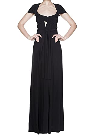 791d7ac8d7 Womens Bridesmaid Elegant Convertible Transformer Infinity Multi Way Wrap  Cocktail Dress Off Shoulder V Neck Bandage Long Maxi Dress  Amazon.co.uk   Clothing