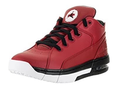 Amazon.com | Jordan Nike Men's Ol'School Red Leather Low Basketball Shoes  12 | Basketball