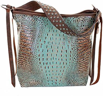 Amazon com | Double J Saddlery MST34 Mint Croc Messenger Bag