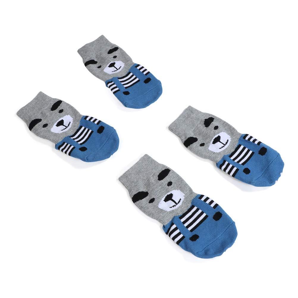Hihey Hundesocken Anti Rutsch Hund Socken Traktionskontrolle Pfotenschutz Socken f/ür Welpen Katzen