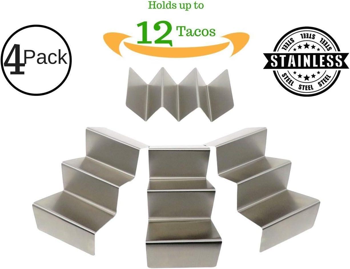 Taco Huyaco - Estante, soporte para tacos, soporte para tacos, capacidad para 12 tacos, carcasa suave o rígida, acero inoxidable 304 de alta calidad (8