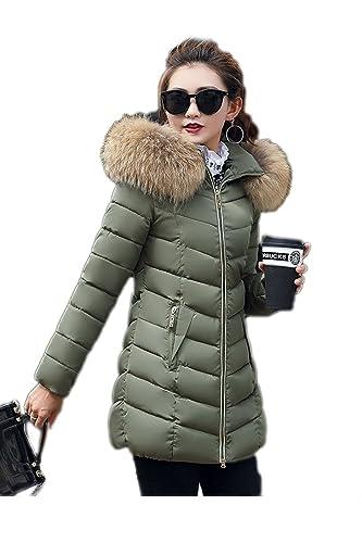 La Mujer Invierno Casual Cremallera Con Capucha Espesar Parkas Cálida Chaqueta Outcoat Plus Size