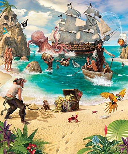 Walltastic WT42131 Pirate and Treasure Adventure Wall Mural