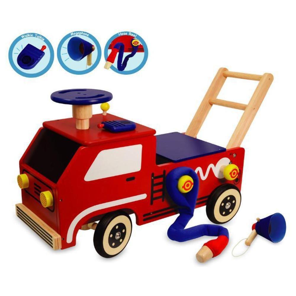 I'm Toy Lauflernwagen Feuerwehr Holz