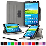 """rooCASE Samsung Galaxy Tab S 8.4 Case - Dual View Multi-Angle Stand 8.4-Inch 8.4"""" Tablet Case - BLACK (With Auto Wake / Sleep Smart Cover)"""