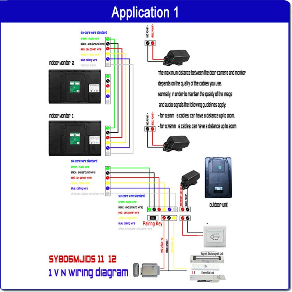 Ennio Touch Key 7 Lcd Video Door Phone Intercom System Wiring Diagram Wth Ir Camera Code Keypad Electronic Lock Photo