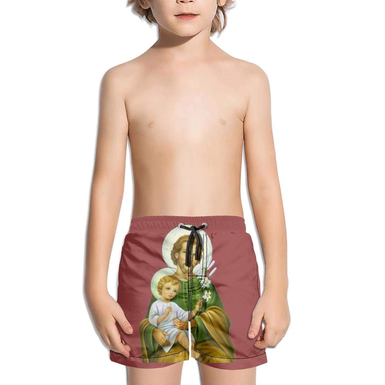 Mary Saint Joseph Giuseppe Name Day Kids Quick Dry Core Vintage Swimming Trunks Shorts